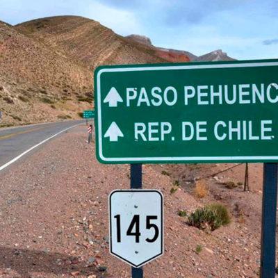 Ruta 145 hacia Chile